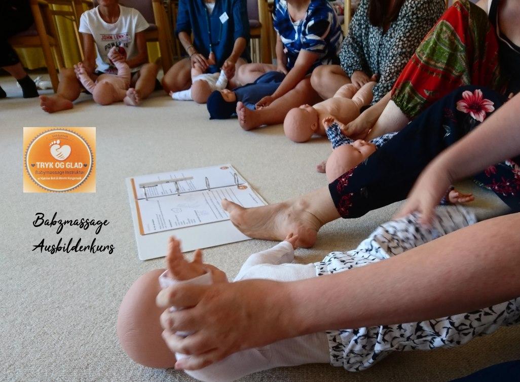 Babymassage Tryk og glad