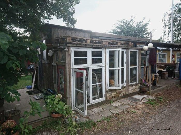 Haus aus Fenster Paletten