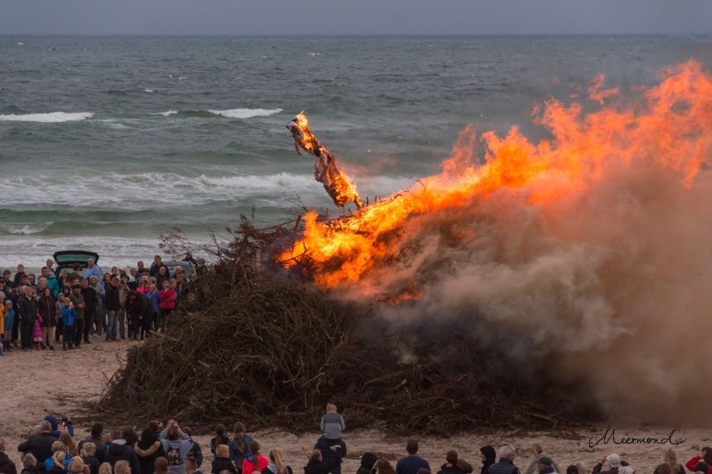 midsommer Dänemark Feuer