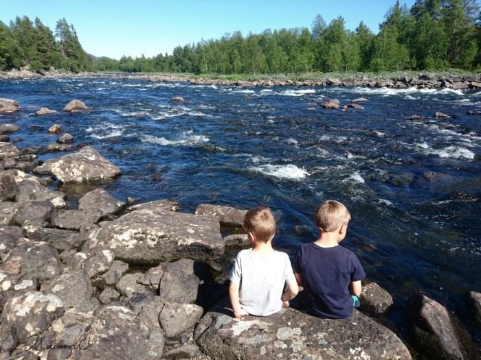 Fluss Norwegen Sommer