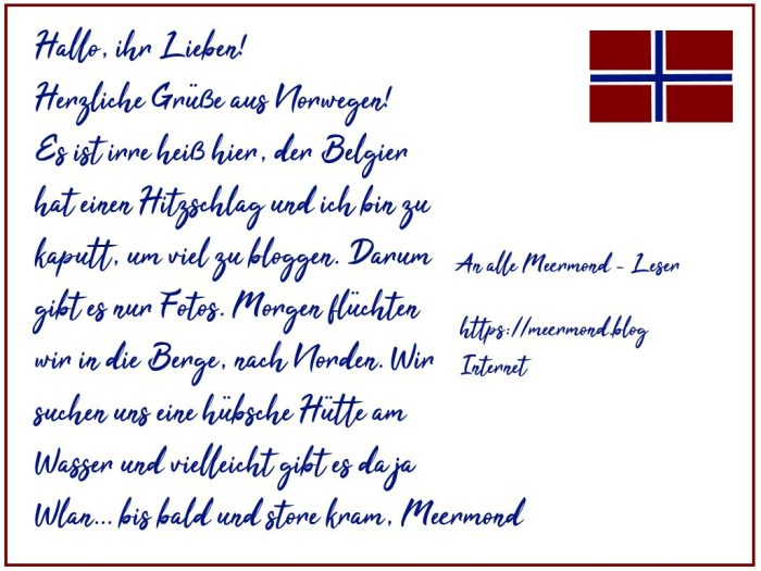 Postkarte aus Norwegen