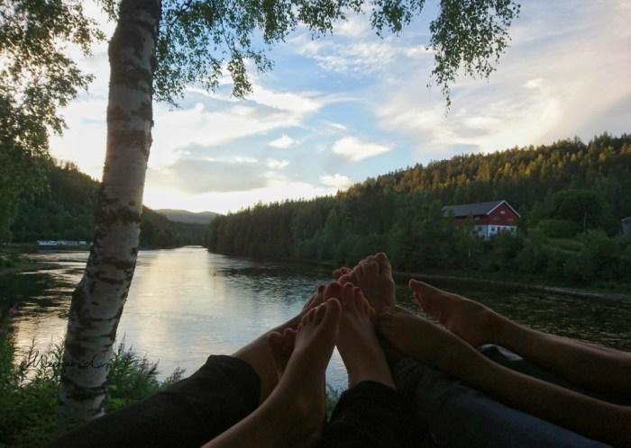 Sommer Nacht hell Norwegen