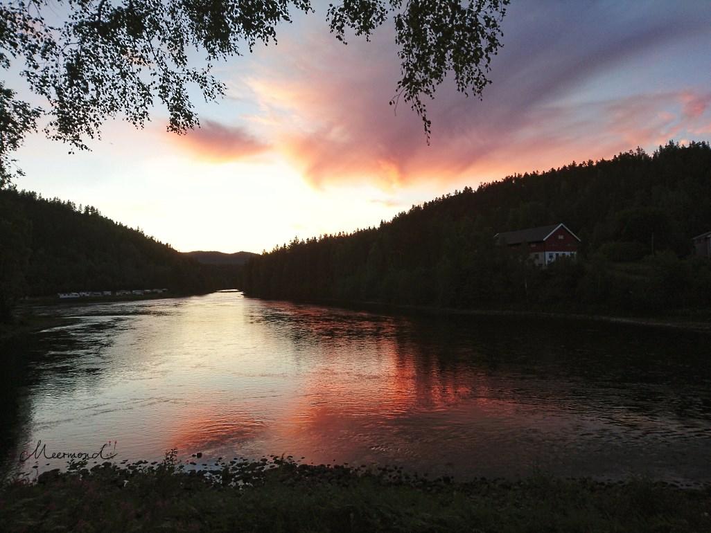 Sonnenuntergang Norwegen Sommer