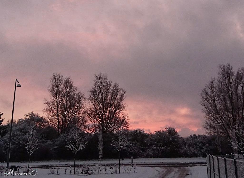 Dänemarkblog Winter Sonnenaufgang dunkel