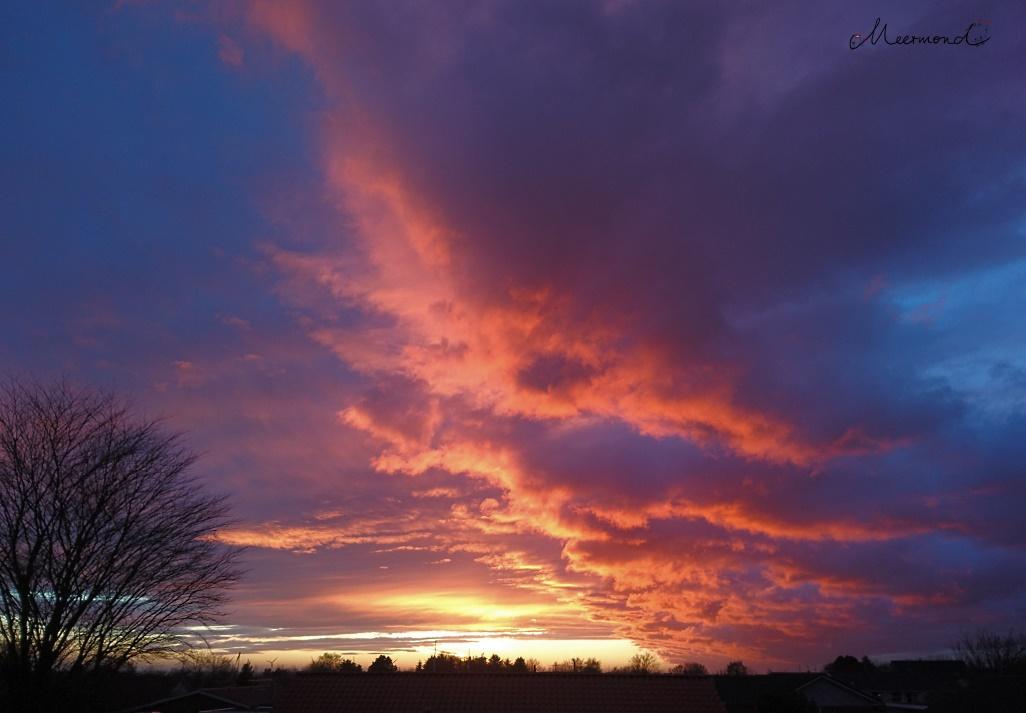 Sonnenuntergang Brønderslev März_18.33 Uhr