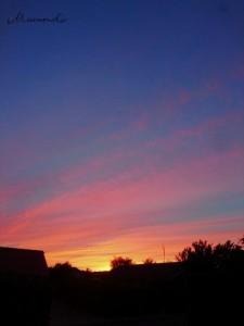 Sonnenuntergang Dänemark Herbst